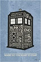 Authentic Autographed Doctor Who, Tardis, Where DO You Want to Start Art Print Signed by Artist Stephen Poon