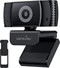 2021 AutoFocus Webcam with Microphone & Privacy Cover, Wansview HD 1080P USB PC Web Camera for Laptop Computer Desktop, fo...
