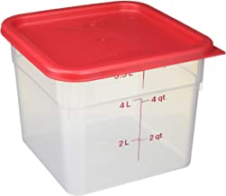 Cambro 6SFSPP190 CamSquare Storage Container, Translucent, 6 qt With Lid