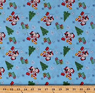 Best mickey christmas fabric Reviews