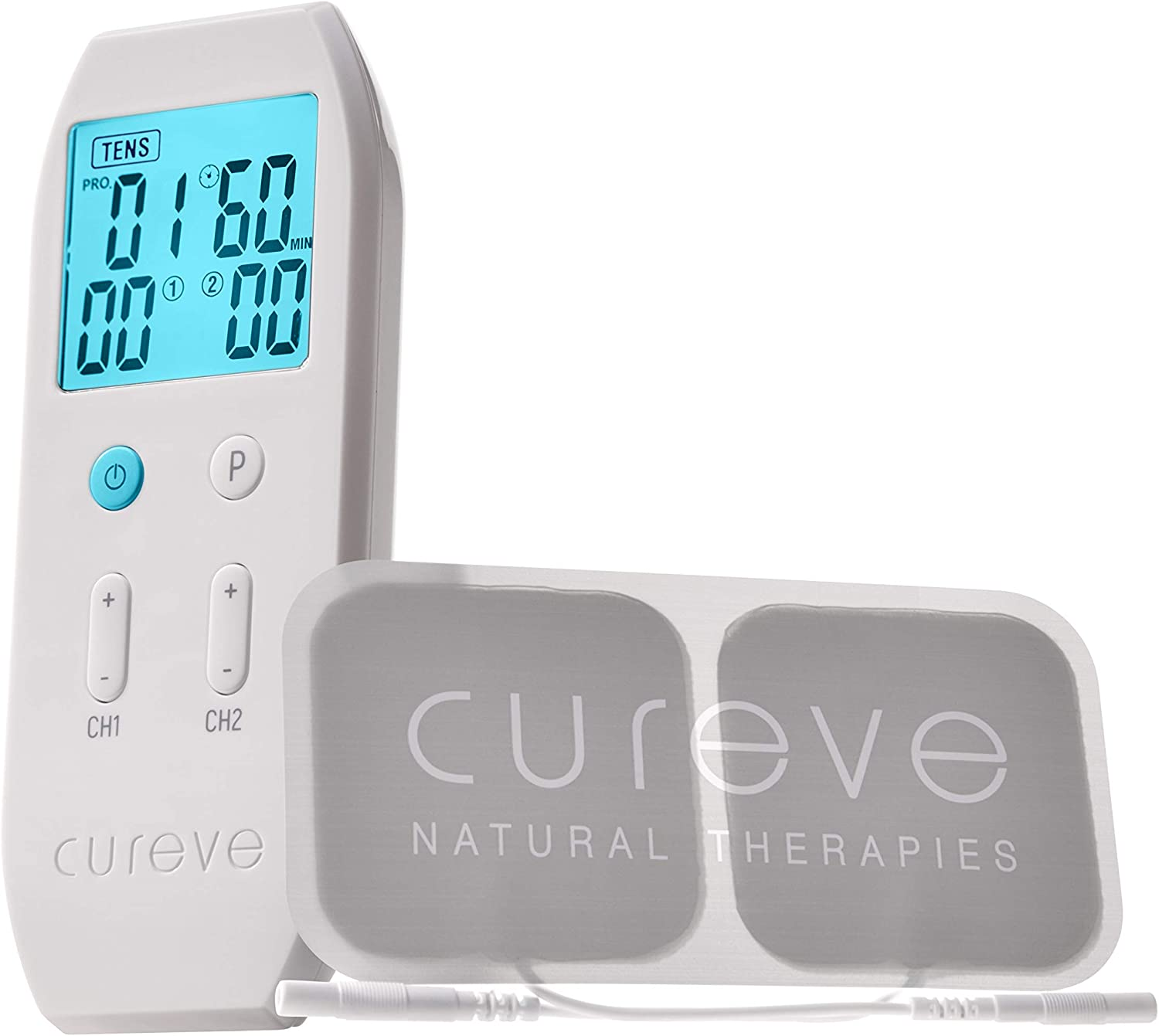 Cureve TENS + EMS Unit Popular standard Max 54% OFF Combination System and Relief Pain Muscle