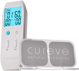 Cureve TENS + EMS Unit Combination Pain Relief System and Muscle Stimulator - Professional, Rechargeable, Portable and Pow...