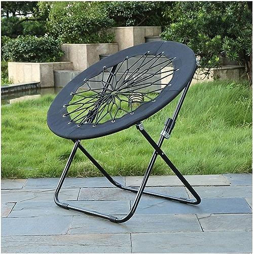 ZQ Chaise de Camping Pliante légère, Chaise de randonnée portative extérieure à Plis Portable 220Ib, Chaise de Plage Basse en Acier Inoxydable pour la pêche-noir