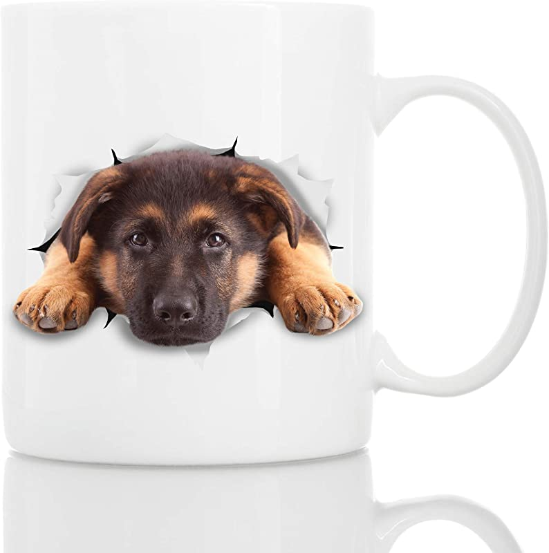 German Shepherd Coffee Mug Ceramic Funny Coffee Mug Perfect Dog Lover Gift Cute Novelty Coffee Mug Present Great Birthday Or Christmas Surprise For Friend Or Coworker Men And Women 11oz