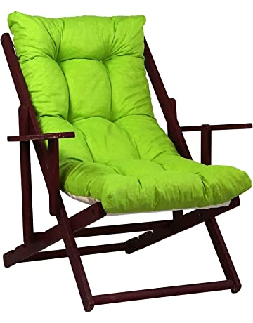 Verde Cuscini MATERASSI per Sdraio LETTINI Piscina Giardino TERRAZZO CM 190X58H4 in Cotone Panama con Cerniera SFODERABILE