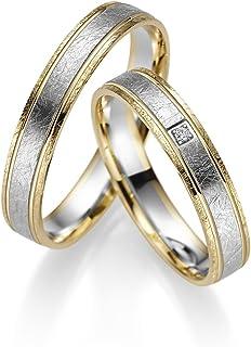 RJ, fedi in oro giallo e oro bianco 333, con pietra e incisione, prezzo a paio