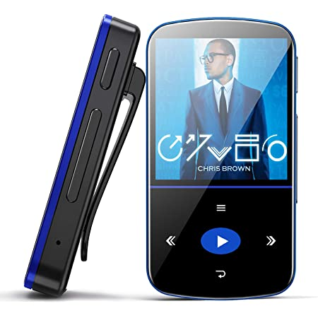 32GB MP3 Player, Mibao MP3 Player with Bluetooth 4.1, HiFi Lossless Sound, Support FM Radio/Recordings/E-Book/Picture, Support Expandable up to 64G, (Headphones Included)