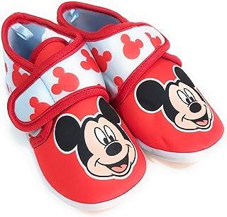 Zapatillas Mickey Mouse de Estar por Casa - Zapatillas Disney Mickey Mouse Niños Pantuflas Media Bota Velcro