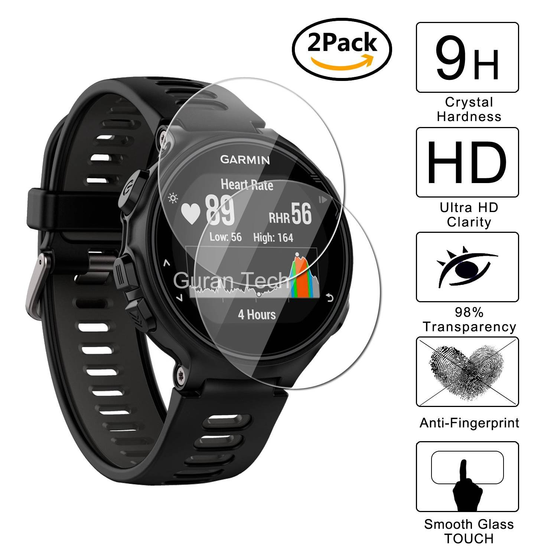 2 Pack] Guran® Protector de Pantalla Vidrio Cristal Templado Para Garmin Forerunner 735XT Smartwatch Cristal Vidrio Templado Film: Amazon.es: Electrónica