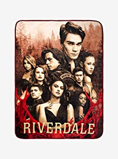 Hot Topic Riverdale Sepia Tone Cast Plush Throw Blanket Exclusive
