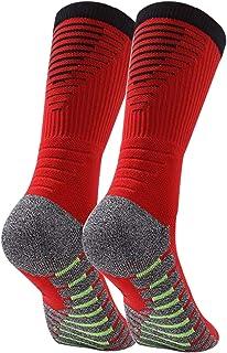 Manbozix, Calcetines de Hombre Calcetines Deportivos Transpirables Calcetines de Fútbol Calcetines Deportivos Antideslizantes Unisex 38-42, Control de Humedad, 1/5 Pares