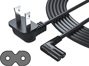 [UL Listed] Pwr+ Extra Long 12 Ft 2-Prong AC Wall 2 Slot Power Cord L-Type for Samsung LED LCD TV Smart Monitor, Xbox One-S X, PS4 Console Cable (Figure 8) - 3903-000853 3903-000599