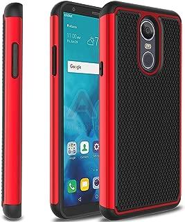 Zenic LG Stylo 4 Case, LG Stylo 4 Plus Case, Dual Layer Plastic Hybrid Defender Shockproof Protective Armor Case for LG Stylus 4/LG Q Stylo/LG Q Stylo Plus(Red)