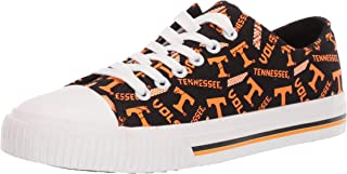 FOCO NCAA Womens Low Top Repeat Print Canvas Shoes