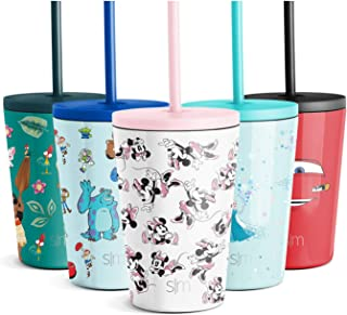 Simple Modern Disney Kids Cup 12oz Classic Tumbler with Lid and Silicone Straw - Vacuum Insulated Stainless Steel for Todd...