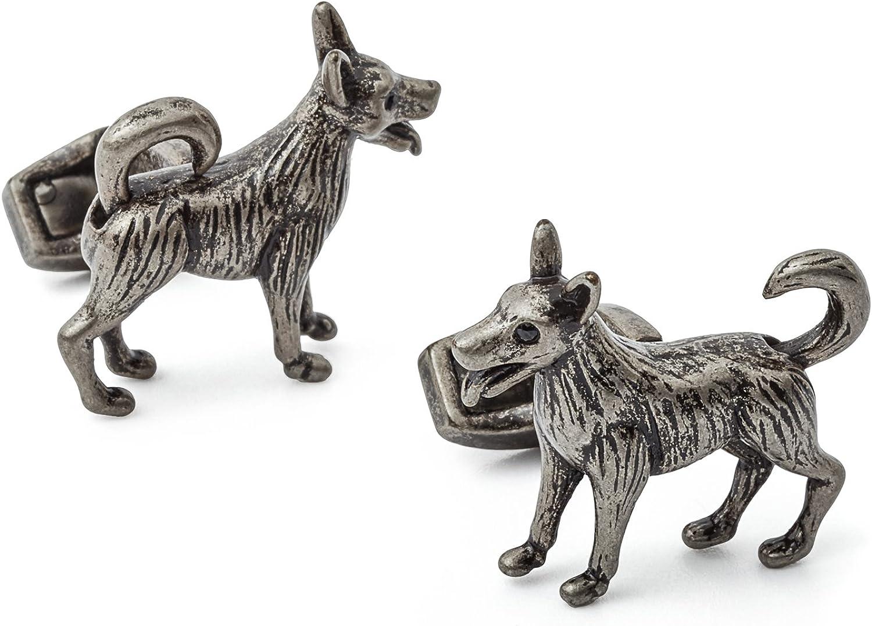 Tateossian Mechanical Moveable Dog Cufflinks