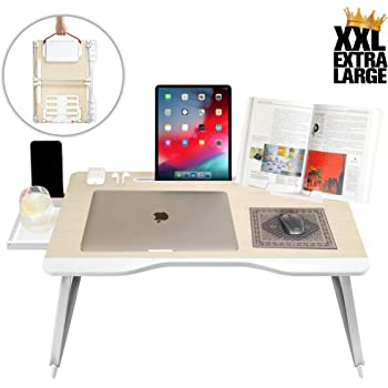 with Cup Slot Small Dorm Folding Desk Color : Red Small Round Desk,on The Bed Laptop Table Folding Table Lina Notebook Table Dorm Desk