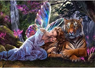 Chinatera New 5D DIY Diamond Painting Embroidery Mosaic Cross Stitch Angel and Tiger