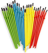 Darice Kid's Paint Brushes (24pc) – Assortment of 4 Colors Perfect for Small Hands – Comes in a Reusable Pouch for Easy St...