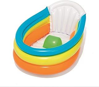 بيستواي - مستلزمات استحمام الطفل قابلة للنفخ وتصدر صوت صرير، 76 سم × 48 سم × 33 سم، 26-51134