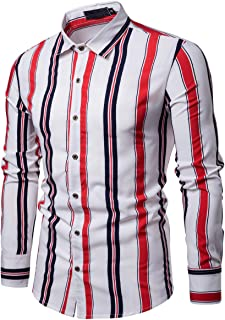 Yaoyaou Mens Casual Slim Fit Long Sleeve Button Down Dress Shirts Henley T-Shirt