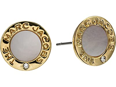 Marc Jacobs The Medallion Mother-of-Pearl Earrings