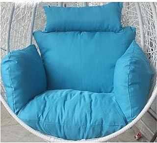 XiYou Cesta Colgante Cojines para sillas con Forma de Huevo Cojines para sillas con Forma de Huevo, sin Soporte Cojín de Asiento Columpio Multicolor Respaldo Grueso con Almohada