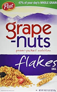Grape-Nuts Cereal, Flakes, 18 oz, (pack of 3)