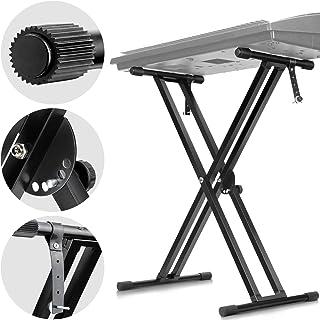 CAHAYA Keyboard Stand Double Braced X Style Adjustable...