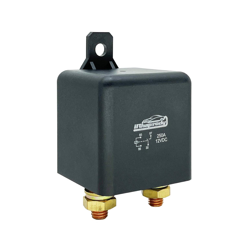 IRHAPSODY 4-pin 250 Popular standard Amp High Power Conti Relay 12VDC Heavy New York Mall Duty