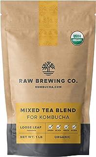 Sponsored Ad - Kombucha.com Certified Organic Loose Leaf Tea - Kombucha Brewing Blends (Black/Green/White Tea Blend, 1 Pound)