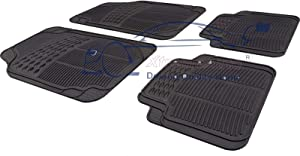Xtremeauto  Universal Full Rubber Piece Heavy Duty Non-Slip Car Floor Well Mat