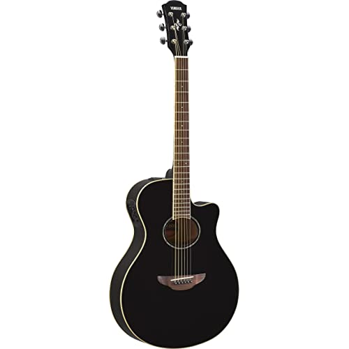 Yamaha APX600 BL Thin Body Acoustic-Electric Guitar, Black