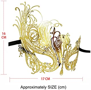 Xvevina Masquerade Mask for Couples Venetian Party Prom Ball Mardi Gras Mask