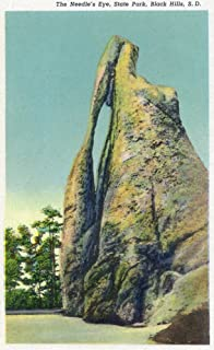 Custer State Park, South Dakota - View of the Needle's Eye in the Black Hills (12x18 Art Print, Wall Decor Travel Poster)