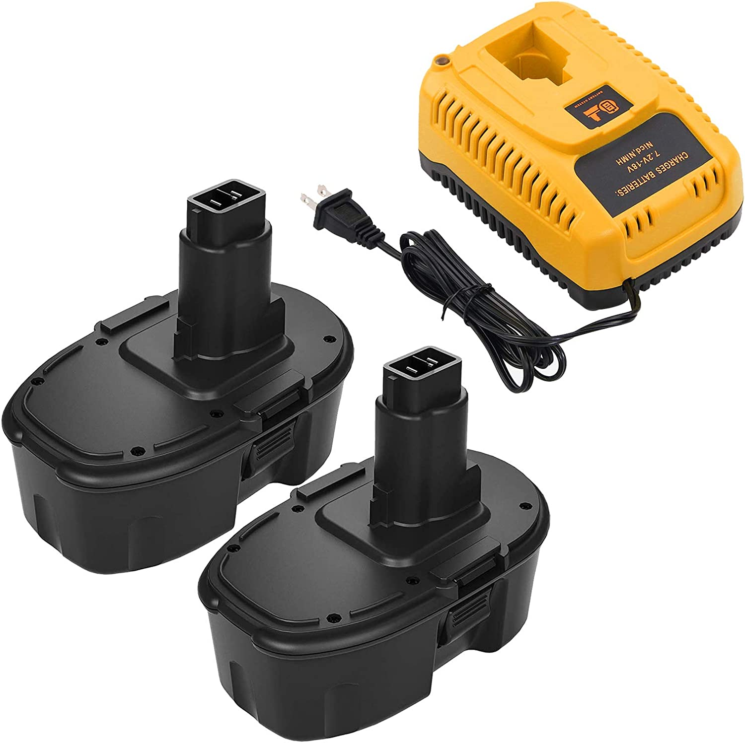 3.0Ah 2-Pack New popularity Replacement Battery Compatible with famous 18V Batt Dewalt