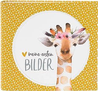 goldbuch Favourite DINGE 50 White Pages for Gluing Linen Structure, Paper, Giraffe Photo Album, ca. 27,5 x 25,5 x 4 cm