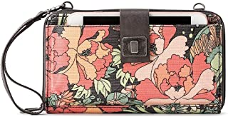 Sakroots Artist Circle Large Smartphone Cross-Body Phone Wallet, Charchoal Flower Power, One Size