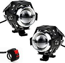 Justech 2x Luces de Niebla Faros para Luces de Delantera de Motocicleta del LED Bombillas de DRL CREE U5 para Motocicleta Harley Quad Scooter Bicicleta Remolque Barco con el Interruptor de Encendido