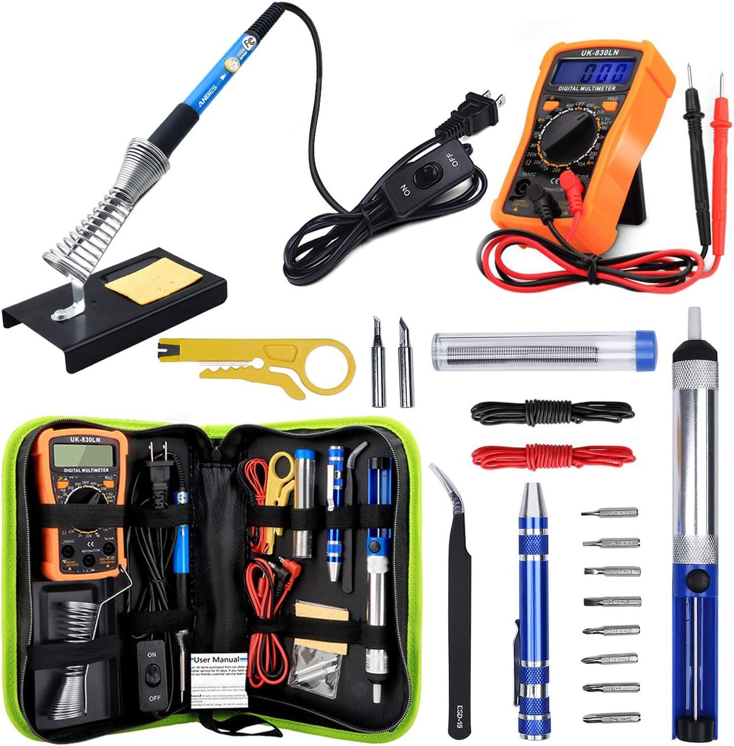 Anbes Ranking TOP17 Soldering Iron Kit 60W Tool Adjustable Popular brand Temperature Welding