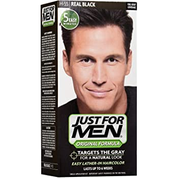 Just For Men Shampoo-In Hair Color - Real Black - 2 pk