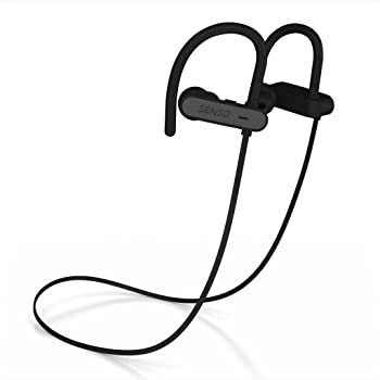 Senso ActivBuds Bluetooth Wireless Headphones, Durable IPX7 Waterproof Sports Earphones w/Mic, HD Sound w/Accurate Bass, Secure Comfort Fit Earbuds for Running, Noise Cancelling Sweatproof Headsets