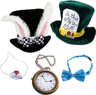 Sponsored Ad - Tigerdoe White Rabbit Costume - Rabbit Costume - Bunny Costume 5 Pc Costume- Playing Cards 4 Pc Costume
