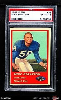 1963 Fleer # 32 Mike Stratton Buffalo Bills (Football Card) PSA 6 - EX/MT Bills
