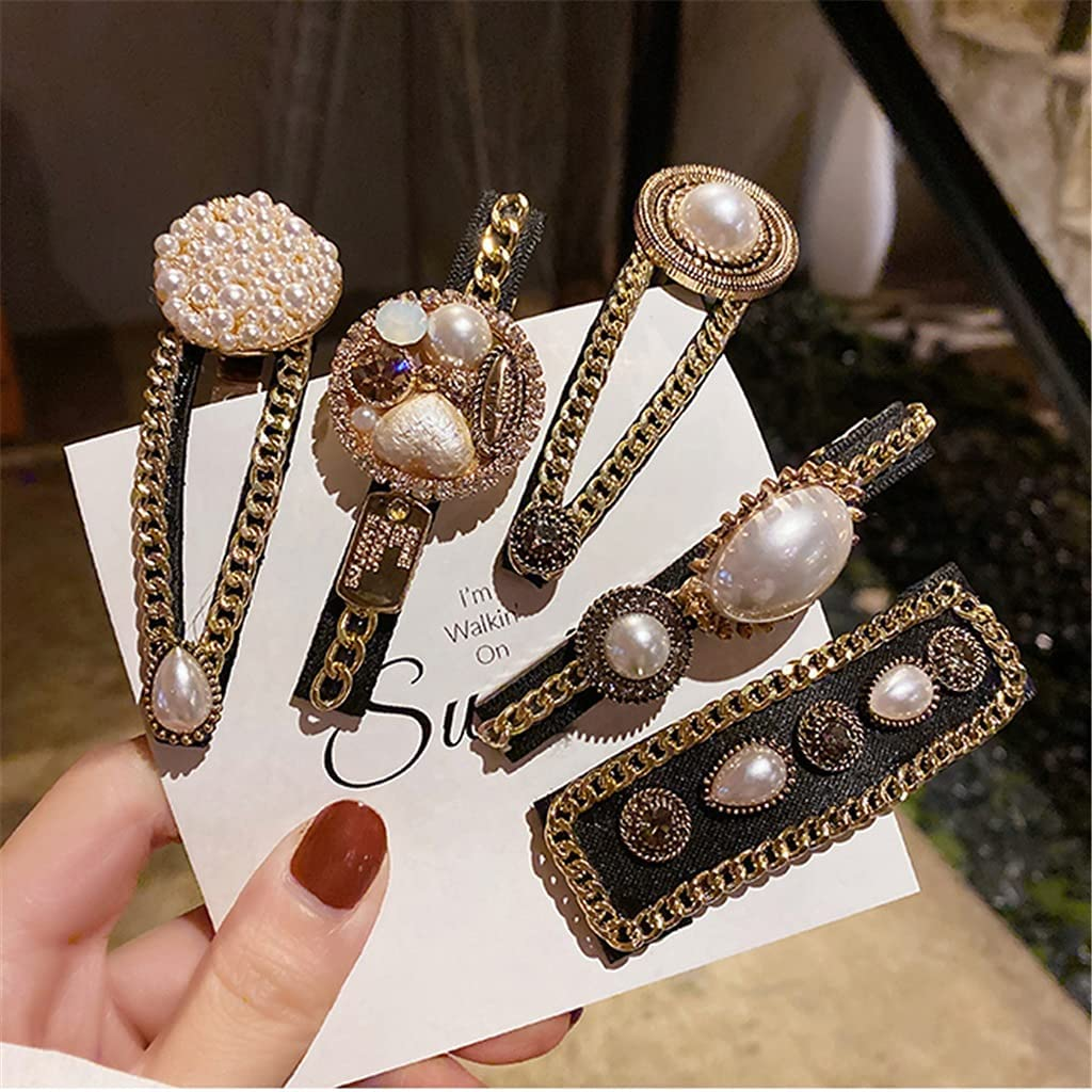 At the price XKAOL Hairpin Girl Side Back Fixed price for sale Pearl Clip Bangs