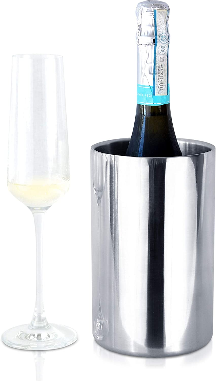 TANTUM Wine Max 71% OFF Bottle Chiller Inexpensive Bucket – Wall W Double Insulated