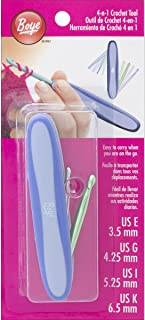 Boye 3396300EGIKA 4-in-1 Crochet Hook Tool, Purple