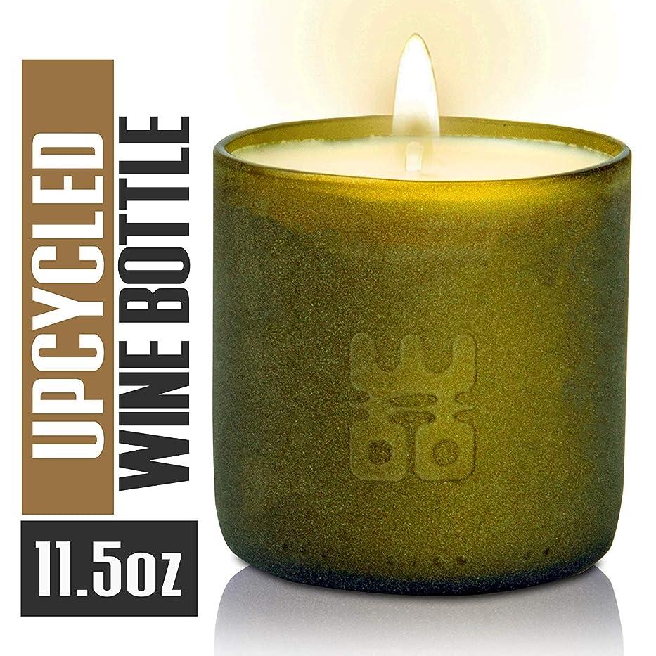 悲観的証言する申込みWoo Worldsの機会Lucky Candle Upcycledワインボトル L- 6oz