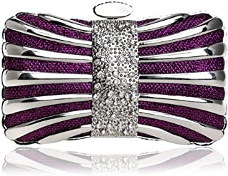 ZYWYB Glitter Clutch Evening Bags for Women Formal Bridal Wedding Clutches Purse Prom Cocktail Party Handbags (Color : E)