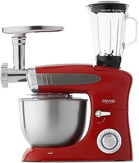DMS 3-in-1 keukenmachine roermachine 6,5 liter kneedmachine roestvrijstalen kom spatbescherming standmixer Ice Crusher vle...